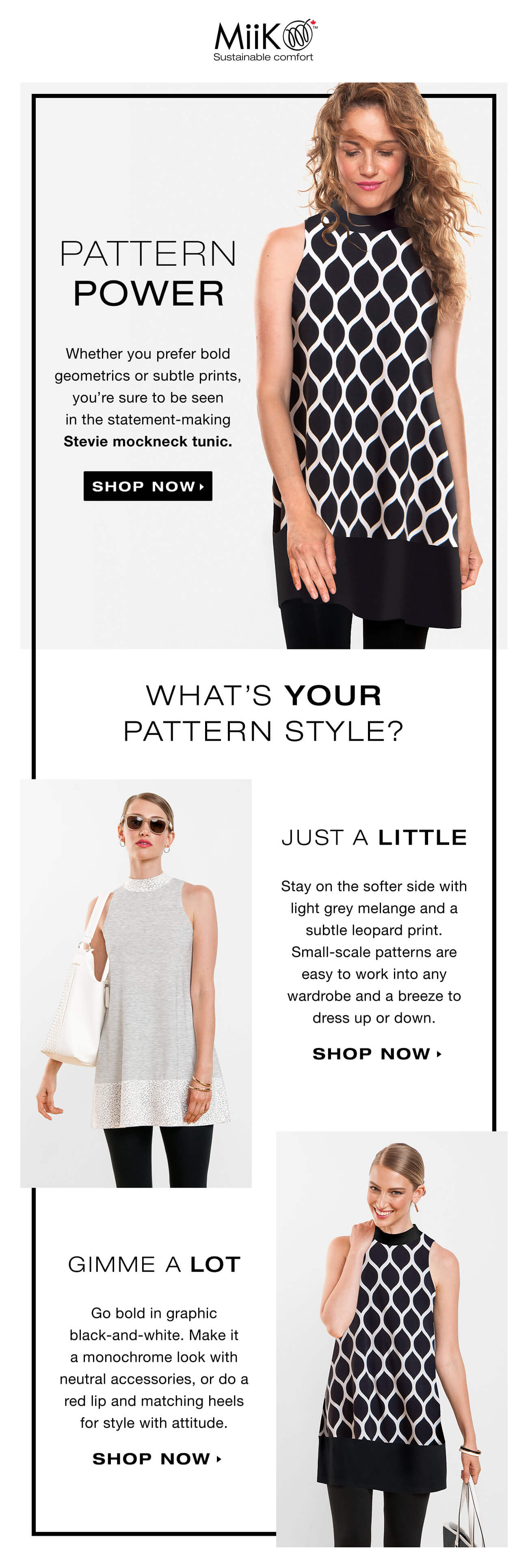 Patterned tunic email