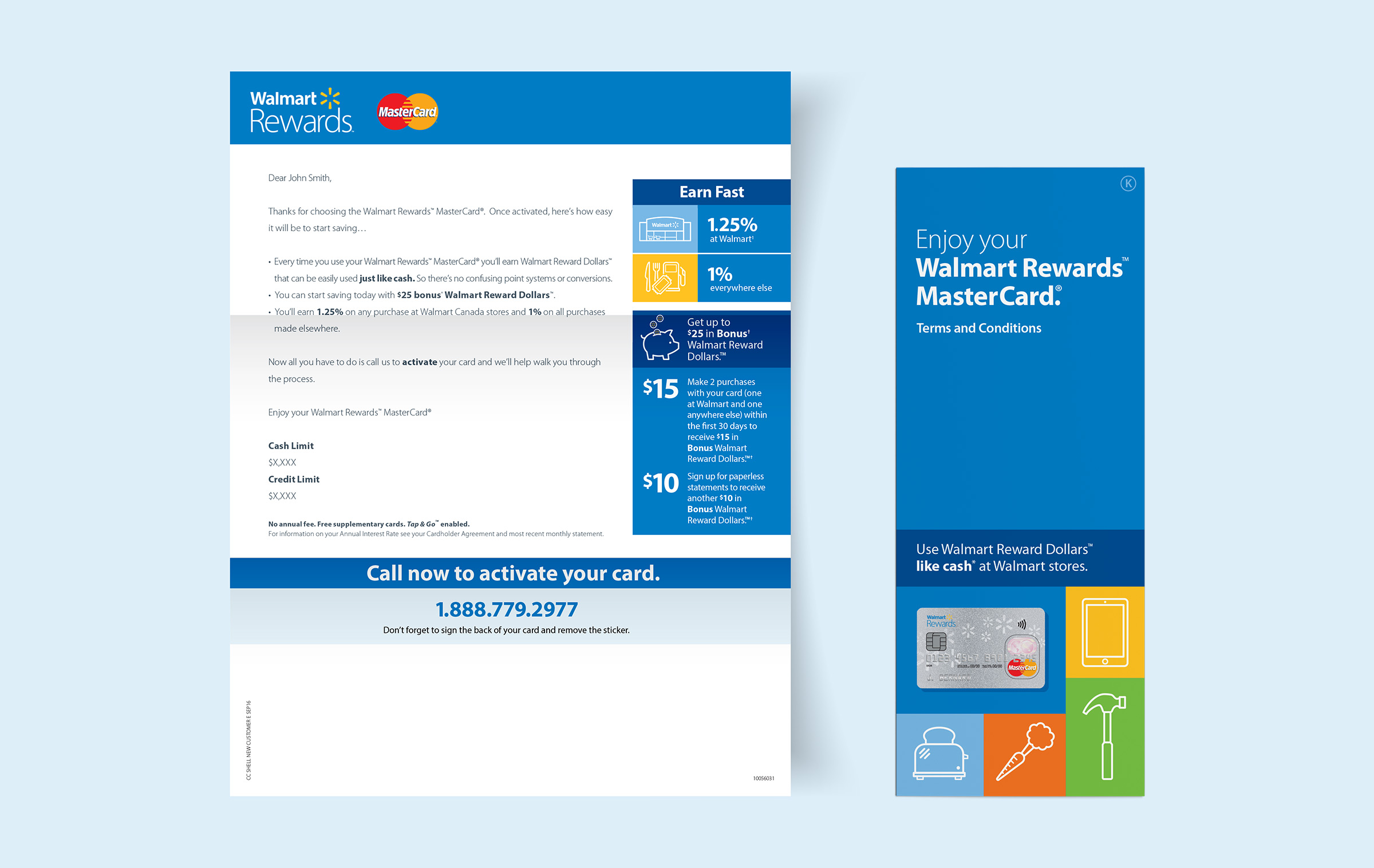 Signup welcome letter and terms and conditions brochure