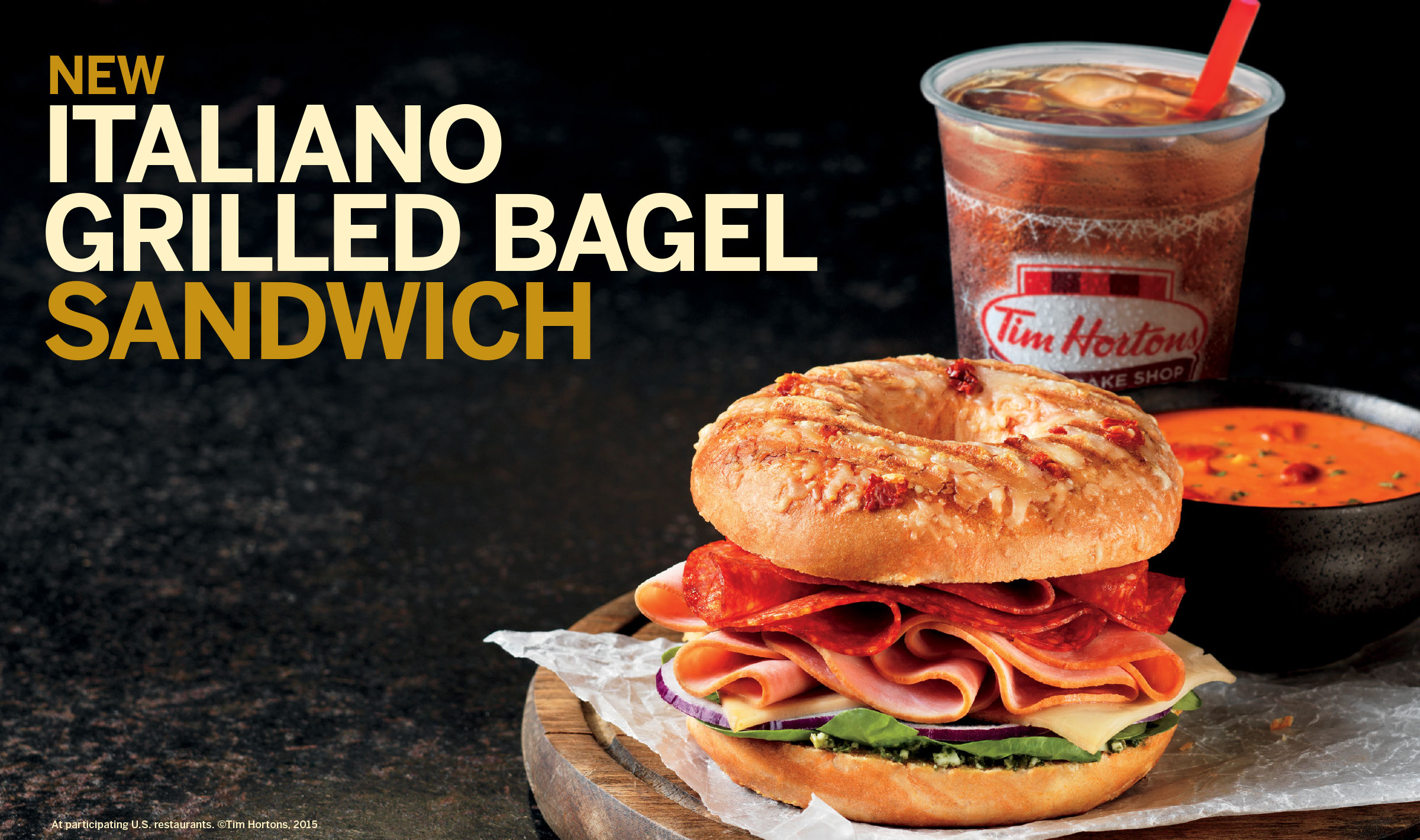 Italiano bagel sandwich ad