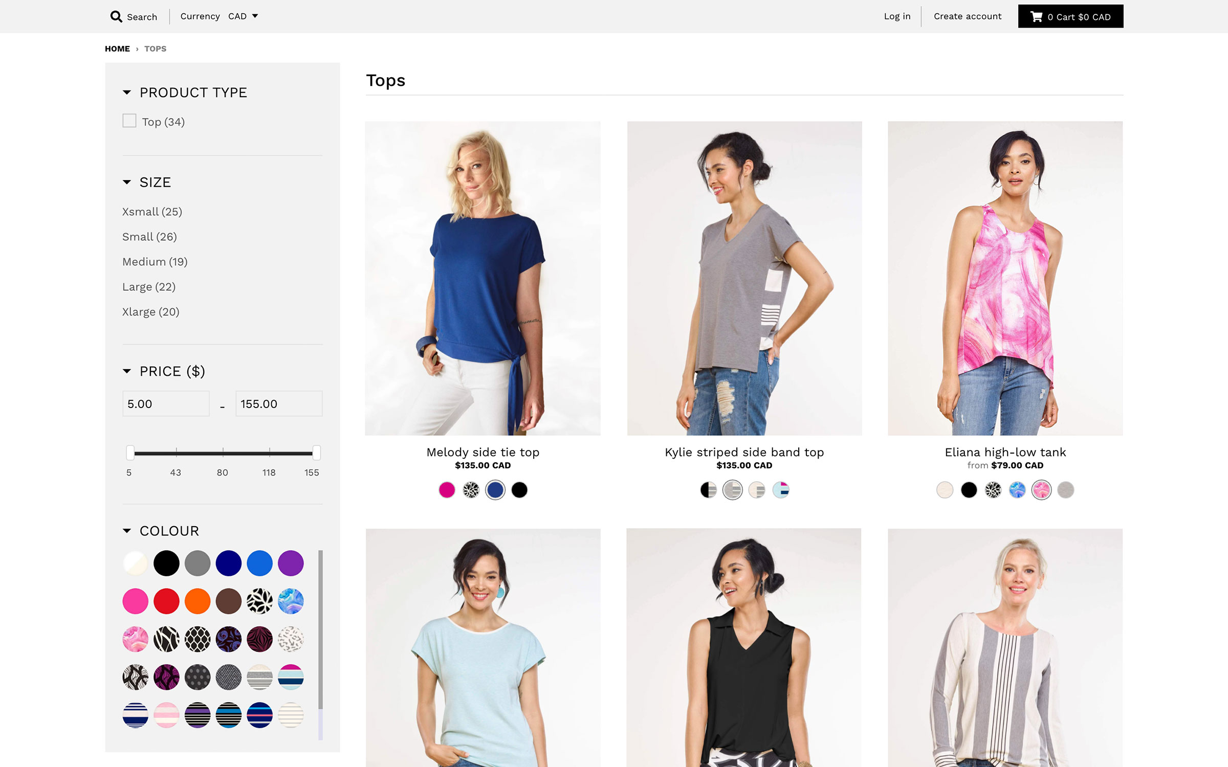 Miik product collection page
